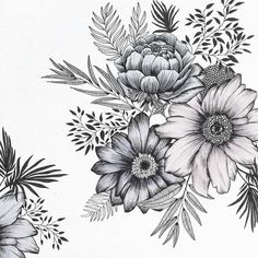 On by littlepatterns Poster Art, Design Poster, Flower Tattoo Designs, Flower Tattoos, Watercolor Sketchbook, Floral Drawing, Flower Doodles, Colouring Pages, Doodle Art