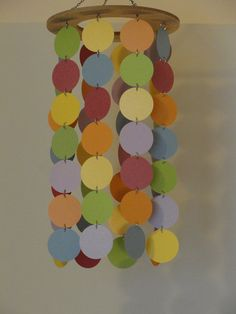 Rainbow Circle mobile / chandelier by WhimsyCreationsEF on Etsy, $20.00