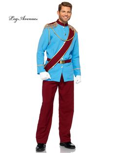You may not be able to make a fairy godmother appear to give your significant other or even your little girl all she wishes, but you can help her feel like a real princess by wearing this men's Prince Charming costume