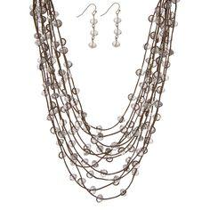 Maleah Bronze Multi Strand Necklace Set