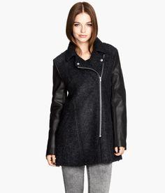 H&M wool-blend biker coat