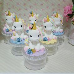 Unicorn Cupcakes, Unicorn Party, Unicorn Birthday, Fondant Animals, Ideas Para Fiestas, Pasta Flexible, Sugar Art, Cold Porcelain, Clay Creations