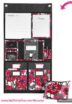 I love this hanging wall organizer from Thirty One! It is perfect for your kitchen, office, or dorm room!  www.MyThirtyOne.com/Wooster