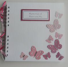 Pink Butterflies Memory Album Scrapbook £12.99 #craftfest
