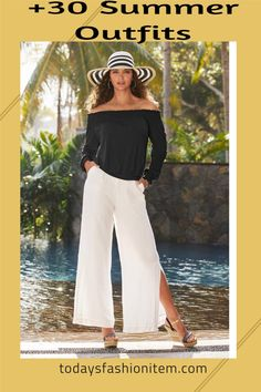 Over 30 Summer Outfits in this curated collection from Today's Fashion Item. Feast your eyes on Maxi Dresses, Casual Summer Dresses, Linen Pants Outfit, Crochet Top Outfits, Rompers, Crochet Cover Ups, Sexy Tees and Sexy Tank Top Outfits. Bonus collection items include swimsuits, swim cover ups and sandals. All Chic Summer Outfits are available for sale (while supplies last). | Boston Proper Clothing | Vacation Outfits | Cruise Outfits | Summer Wedding Guest Outfit | Summer Outfit Ideas |