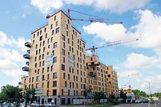 Strasbourg, Timber Buildings, France, Facade, Multi Story Building, Around The Worlds, Public, Heat Pump System, Wood Construction