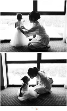 Black and white portraits of the bride helping her flower girl get ready before the wedding ceremony photographed by Massart Photography Rhode Island Wedding Ceremony, Wedding Day, Top Wedding Photographers, Father Daughter Dance, Black And White Portraits, Island Weddings, Beautiful Moments, Rhode Island, How To Take Photos