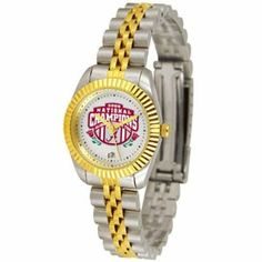 NCAA Alabama Crimson Tide 2009 BCS National Champions Ladies 2-Tone Executive Watch () by Football Fanatics. $180.95. Scratch resistant crystal. Date indicator. Team logo on face. Rotating bezel. Officially licensed collegiate product. Alabama Crimson Tide 2009 BCS National Champions Ladies 2-Tone Executive WatchTeam logo on faceOfficially licensed collegiate productLuminescent hand and face markingsRotating bezelDate indicatorPre-packaged caseReady to wrapScratch re...