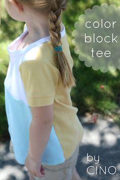 color block tee