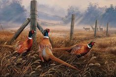 Meadow Mist Pheasants Cross Stitch Pattern***L@@K***$4.95 CLICK VISIT TO SEE PATTERN FORSALE