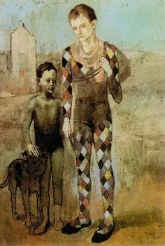 "Pablo Picasso - ""Two acrobats with a dog"", 1905"