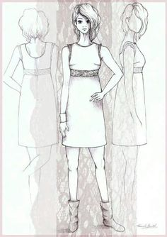 Pizzo dress- sketch