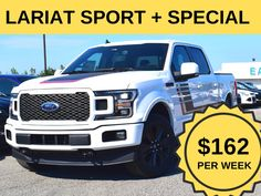 Stock # 07.16 - 9F2079  Cash Price: $52,999.00  MSRP: $71,599.00  $0 down, 2019 4x4 F150 LARIAT with Sport Package +Special edition.  Lease it for $162/week.   *Cash price and weekly price mentioned in this ad includes $1,000 Conquest/Loyalty Bonus. To quality for this, customer needs to trade in existing vehicle or bring their leased vehicle back. For unqualified customer; cash price is $53,999 and weekly price is $167. Ford Employee, Car Deals, 2019 Ford, Loyalty, Ontario, 4x4, Vehicle, Sports, Hs Sports