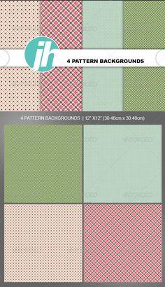 4 Vintage Pattern Backgrounds
