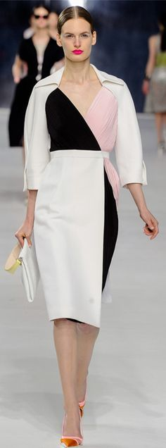 Dior 2014 spring. Clean cuts. Neatly tailored and decent colour palette. However, the shoes could be better.