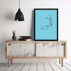 Décoration minimaliste style scandinave avec surfeur #surf #surfer #beach #ocean #sea #poster   We Miss The Beach
