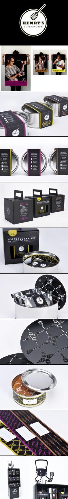 Henry's Dosenkuchen | Anna Weist tasty #packaging #branding PD Any man can bake : )