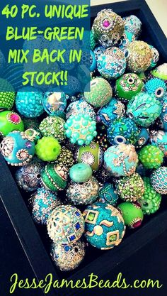 40 Pc. Blue/Green Mix Back in Action on the JJB Website!!