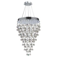 Worldwide Lighting Icicle Collection 9-Light Chrome Crystal Chandelier-W83214C24 - The Home Depot