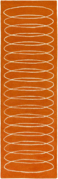 Surya SLB6800 Solid Bold Orange Runner Area Rug