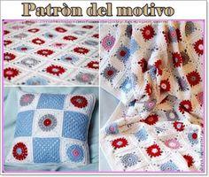 Materiales gráficos Gaby: Patròn de granny para mantas y cojines en ganchill...