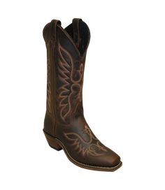 0a9741ea Abilene ladies brown small SQ dress boot 9108 Dress With Boots, Cowboy Boots,  Lady