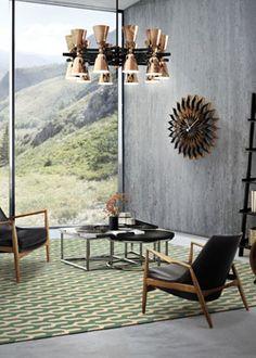 Contemporary interior design with this gorgeous suspension lamp #InteriorDesign…