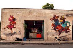 saner mural cholula puebla
