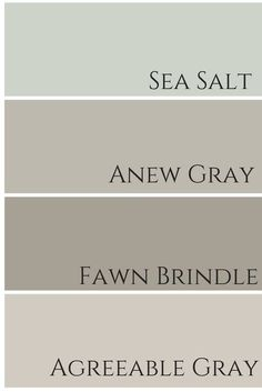 sea salt - dining room anew gray - family room (tv room) fawn brindle - downstairs bathroom agreeable gray - kitchen and living room entry way/stairway/upstairs hallway - white Sherwin Williams Agreeable Gray, Dovetail Sherwin Williams, Sherwin Williams Gray, Hm Deco, Paint Colors For Home, Basement Paint Colors, Paint Colors For Bathrooms, Entry Paint Colors, Colors For Kitchen Walls