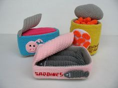 Ravelry: Crochet Pattern - CANNED FOOD pattern by Sky Magenta