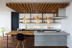 キッチンに天井のポイントがあるのはかっこいい