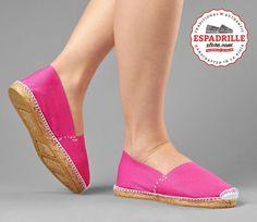 EspadrilleStore - Happy fuchsia flat canvas espadrilles | Jolly summer shoes for girls and women