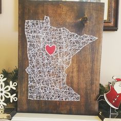 A personal favorite from my Etsy shop https://www.etsy.com/listing/259180463/made-to-order-minnesota-string-art