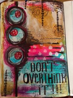 15 minute mixed media art journal page