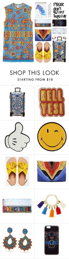 """""""Please don't get my hopes up"""" by mockingjayafire ❤ liked on Polyvore featuring Tumi, Anya Hindmarch, ASOS, Elena Ghisellini, Stella Jean, Kenneth Jay Lane, Kenzo and grateful"""