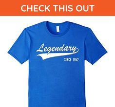 Mens 65th Birthday gift shirt Legendary since 1952 65 year old Large Royal Blue - Birthday shirts (*Amazon Partner-Link)