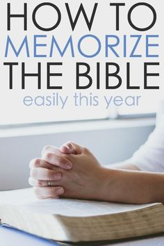 Now you can memorize scripture easily. Here's a 5 step method that is easy to follow for memorizing scripture quickly this year. Memory Verses are now easier to remember!