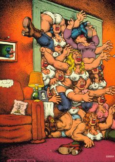Robert Dennis Crumb ( born August is an American cartoonist and musician who often signs his work R. Robert Crumb, Illustrations, Illustration Art, Fritz The Cat, Alternative Comics, Bd Comics, Art Moderne, Comic Artist, Comic Books Art