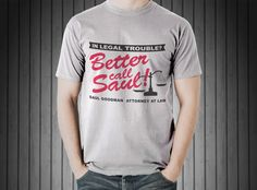Better Call Saul T-Shirt S-XXL Available Saul Goodman Attorney At Law by ArkansasGraphix on Etsy