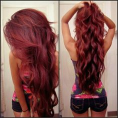 I love this color! And her hair!! Wish I had the guts to do it!