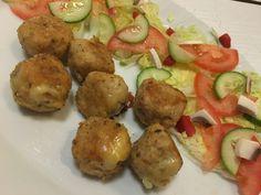 Cheesy chicken garlic balls  