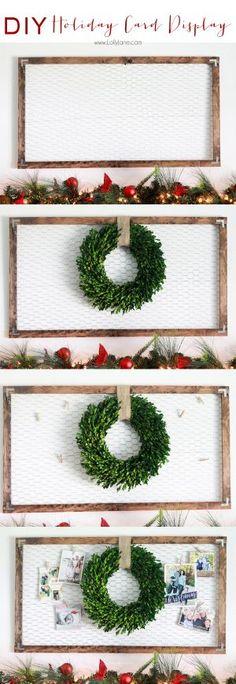 DIY Christmas & Holiday Card Display