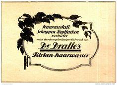 Original-Werbung/ Anzeige 1920 - DRALLE'S BIRKEN-HAARWASSER - ca. 140 x 100 mm