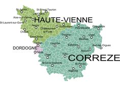 carte région Linousin