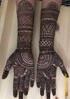 50 Most beautiful Full Hand Mehndi Design (Full Hand Henna Design) that you can apply on your Beautiful Hands and Body in daily life. Mehndi Designs Front Hand, Mehandhi Designs, Latest Bridal Mehndi Designs, Stylish Mehndi Designs, Full Hand Mehndi Designs, Mehndi Designs Book, Mehndi Designs For Girls, Mehndi Designs For Beginners, Mehndi Design Photos