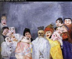 James Ensor,belgian modernist painter of the and Century James Ensor, Expressionist Artists, Neo Expressionism, Franz Marc, Art Database, Art Moderne, Kandinsky, Painting & Drawing, Impressionist