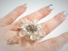 White flower bridal ring by Laurelisbijoux on Etsy, $9.99