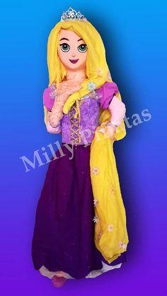 Rapunzel, Tangled, piñata, fiesta, Milly Piñatas, millypinatas