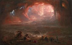 John Martin 1789–1854 Title The Destruction of Pompei and Herculaneum Date 1822, restored 2011 Medium Oil paint on canvas Dimensions Support: 1616 x 2530 mm frame: 1968 x 2879 x 161 mm Collection Tate
