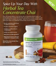 Herbalife Herbal Tea Concentrate Chai *Brand New Flavor* #herbalifeherbaltea #herbalife24 #herbalife #weightloss #herbalifechai https://www.goherbalife.com/shedpounds/en-US/Catalog/Weight-Management/Enhancers/Herbal-Tea-Concentrate